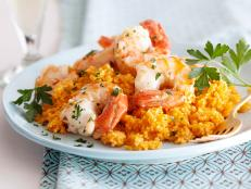 Cooking Channel serves up this Scampi on Couscous recipe from Giada De Laurentiis plus many other recipes at CookingChannelTV.com