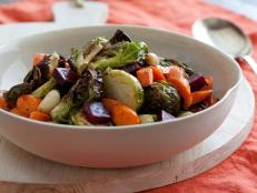 Cooking Channel serves up this Jewel Roasted Vegetables recipe from Ellie Krieger plus many other recipes at CookingChannelTV.com