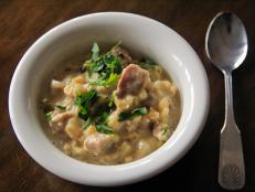 Cooking Channel serves up this Smoked Eel Chowder recipe  plus many other recipes at CookingChannelTV.com