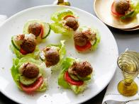Bacon Falafel Bites with Hummus