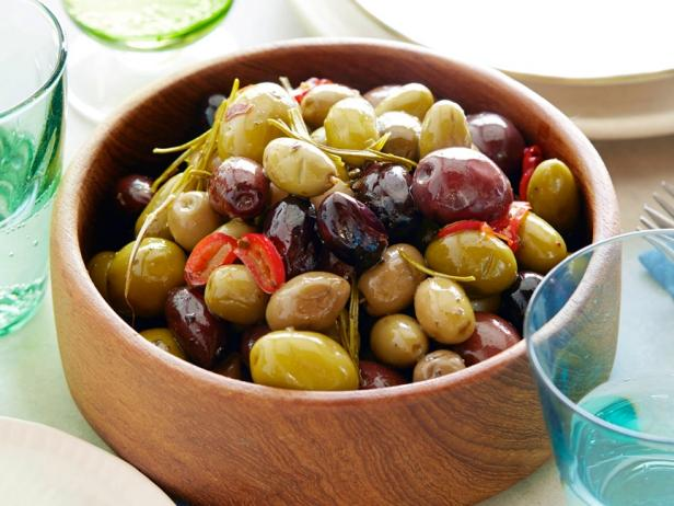 Spicy Roasted Olives