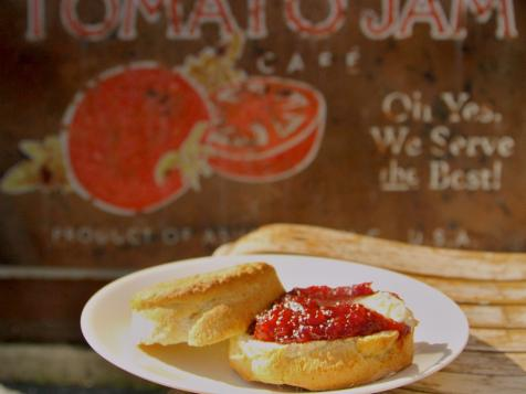 Cat's Head Biscuits with Tomato Jam