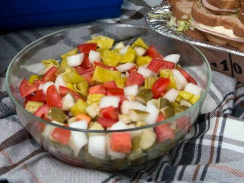 T.O.P.P. (Tomato, Onion, Pepperoncini and Pickle Salad)
