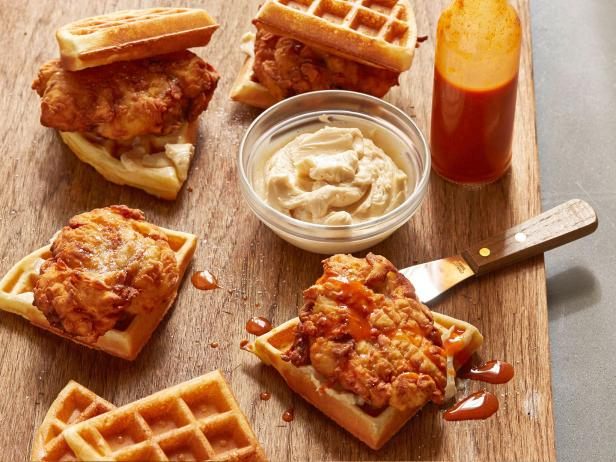 Waffle Chicken Sliders With Maple Butter Recipe Cooking Channel