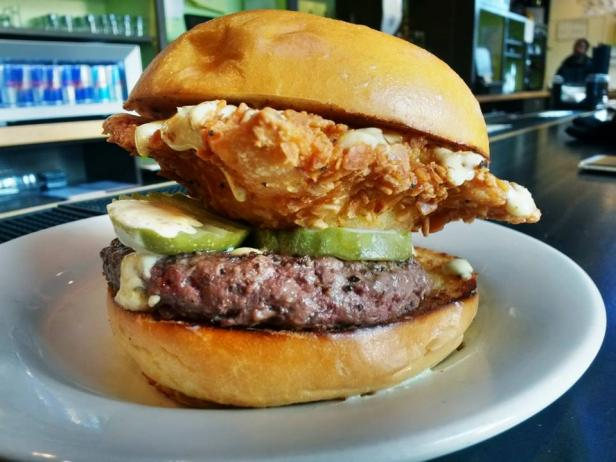 This Burger Features An Actual Deep Fried Beer Patty Devour Cooking Channel