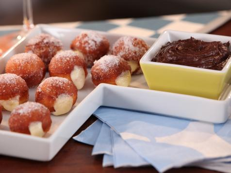 Orange Scented Bomboloni with Pastry Cream and Chocolate Orange Dipping Sauce