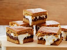 Cooking Channel serves up this S'mores Bars recipe from Kelsey Nixon plus many other recipes at CookingChannelTV.com