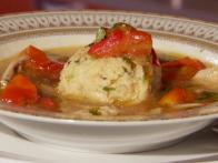 Sephardic Chicken Soup with Sofrito and Herbed Matzo Balls