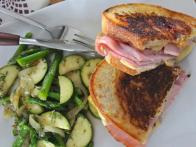 Grilled Ham and Gouda Sandwich with Leftover Easter Veggies