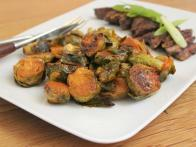 Korean-Style Brussels Sprouts with Marinated Skirt Steak