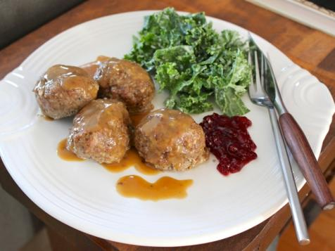 Super-Sized Swedish Meatballs with Toasted Caraway Gravy