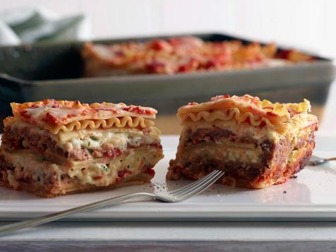 Four-Cheese Lasagna Meatloaf