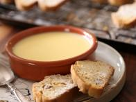 Lemon Posset with Fennel Biscotti