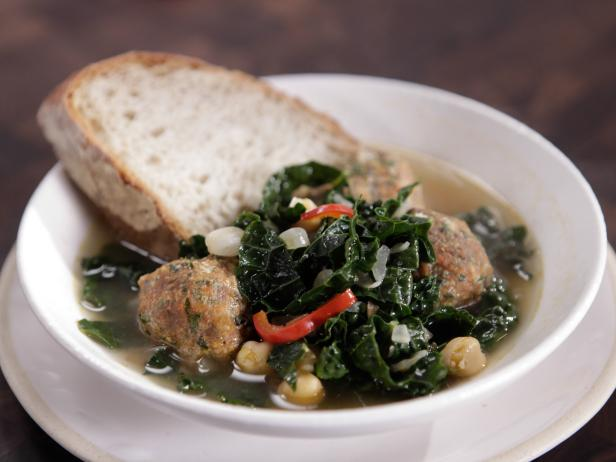 Spanish Meatballs with Beans and Greens