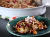 Apricot and Raspberry Granola Gratin with Raspberry Honey Yogurt