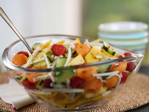 Fresh Fruit and Vegetable Salad with Chile and Lime