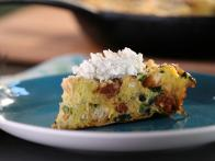 Frittata di Pane (Bread Frittata) with Broccoli Rabe, Sausage and Ricotta