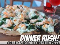 Dinner Rush! Grilled Shrimp Florentine Pizza