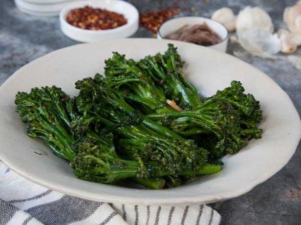 Broccolini with Anchovies and Garlic