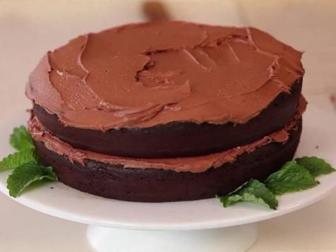 Black Bean Chocolate Cake with Buttercream Frosting