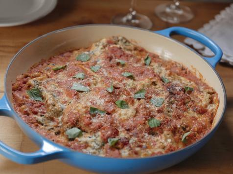 Chicken Sausage and Artichoke Skillet Lasagna