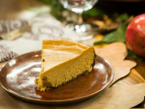 Pumpkin Cheesecake with Bacon Crumble Crust