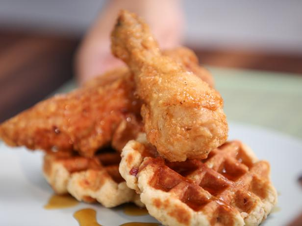 Fried Chicken And Bacon Waffles Recipe Tia Mowry Cooking Channel