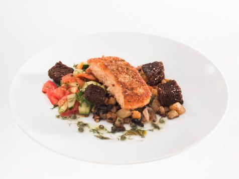 Salmon Two Ways with Caper Sauce