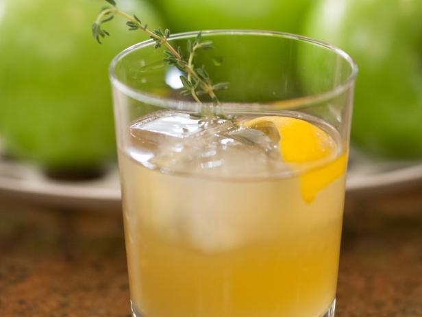 Meyer Lemon and Thyme Whiskey Sour
