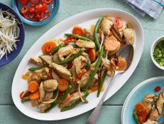 Cooking Channel serves up this Red Curry Chicken Stir-Fry recipe from Ching-He Huang plus many other recipes at CookingChannelTV.com