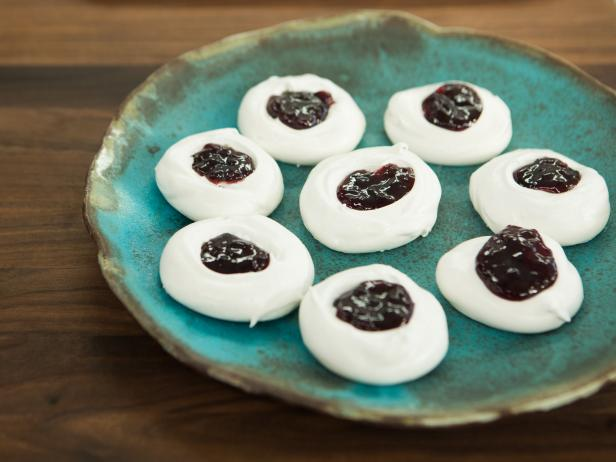 Meringue Thumbprint Cookies