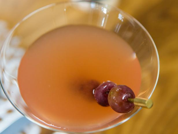 Roasted Red Grapes Martini