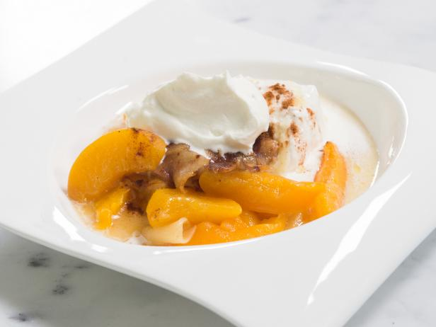 Apple-Peach Compote and Vanilla Ice Cream