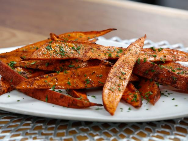 Roasted Sweet Potato Wedges Recipe Tia Mowry Cooking Channel