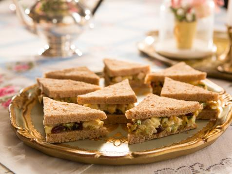 Curried Chicken Salad Tea Sandwiches