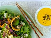 Superfoods Salad with Carrot-Doenjang Dressing