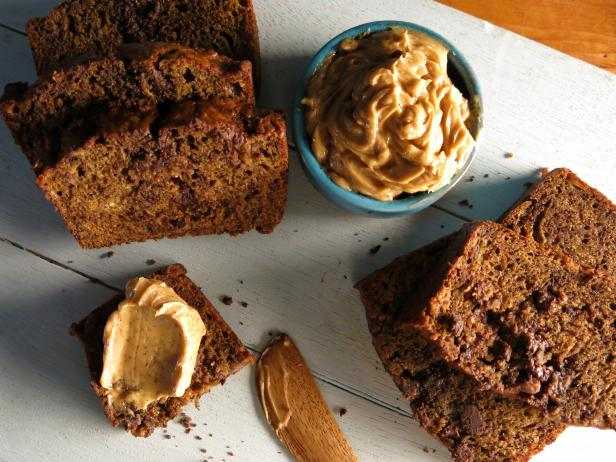Espresso-Chocolate Chip Banana Bread with Espresso-Cinnamon Butter