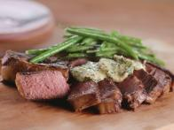 Seared Steak and Green Beans with Herbed Butter