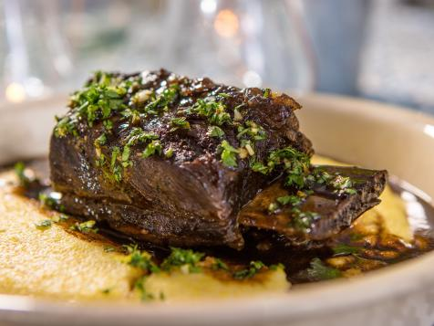 Treacle Beef Short Ribs with Cheesy Polenta