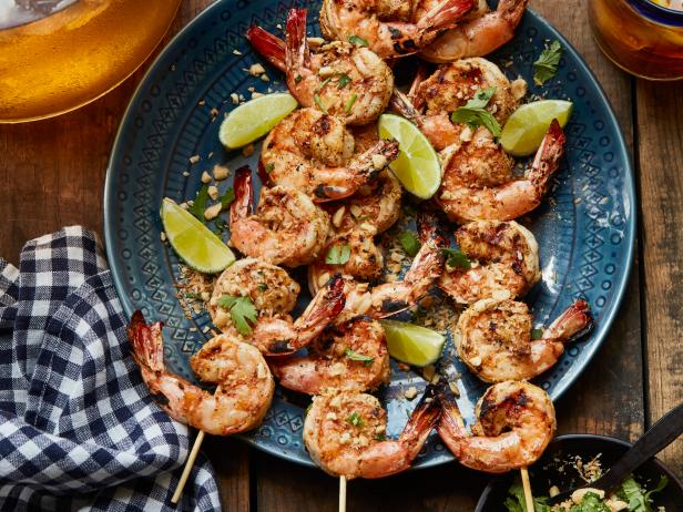 Grilled Mojito-Lime Shrimp Skewers